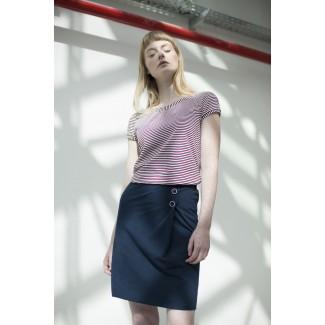 Navy Janette Skirt