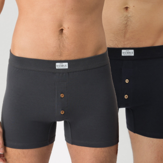 ELEGANT BOXER Navy/Dark Grey