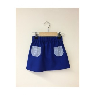 Skirt With Pockets Blue