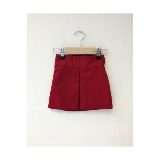 Girly Pleated Skirt Burgundy