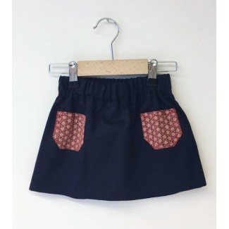 Skirt With Pockets Navy Blue