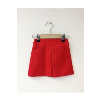 Girly Pleated Skirt Red