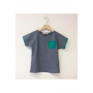 Emerald striped t-shirt...