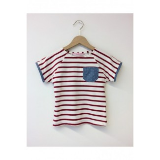 Grey striped t-shirt with a...