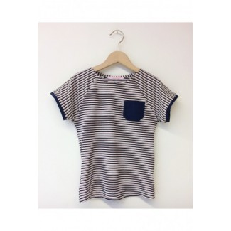Navy striped t-shirt with a...