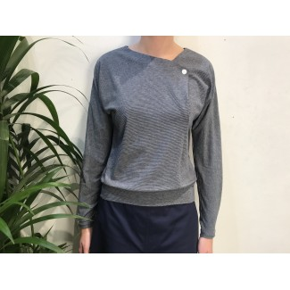 Navy Striped Val TOP