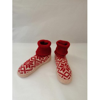 Adult Red Wool Slippers