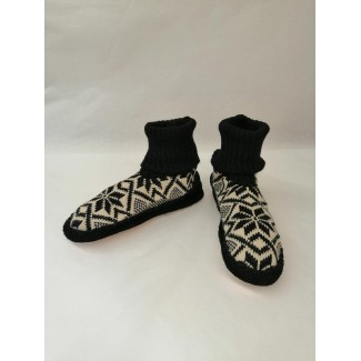 Adult Wool Slippers black