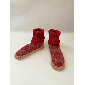 Kids Raspberry Wool Slippers
