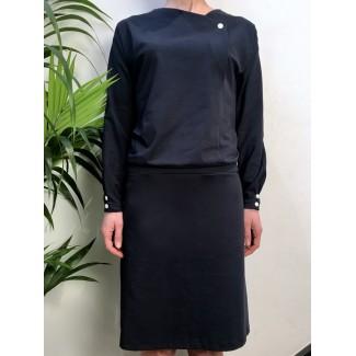 Navy Val dress