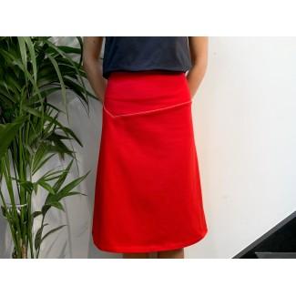 Red Théo skirt