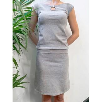 Juliette blue off-white dress