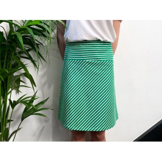 Striped green skirt