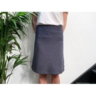 Navy off-white Speckled skirt