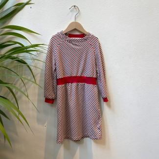 Tricolor striped dress